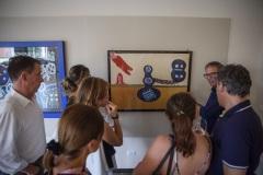 Il critico d'arte Claudio Rota ha illustrato le opere esposte